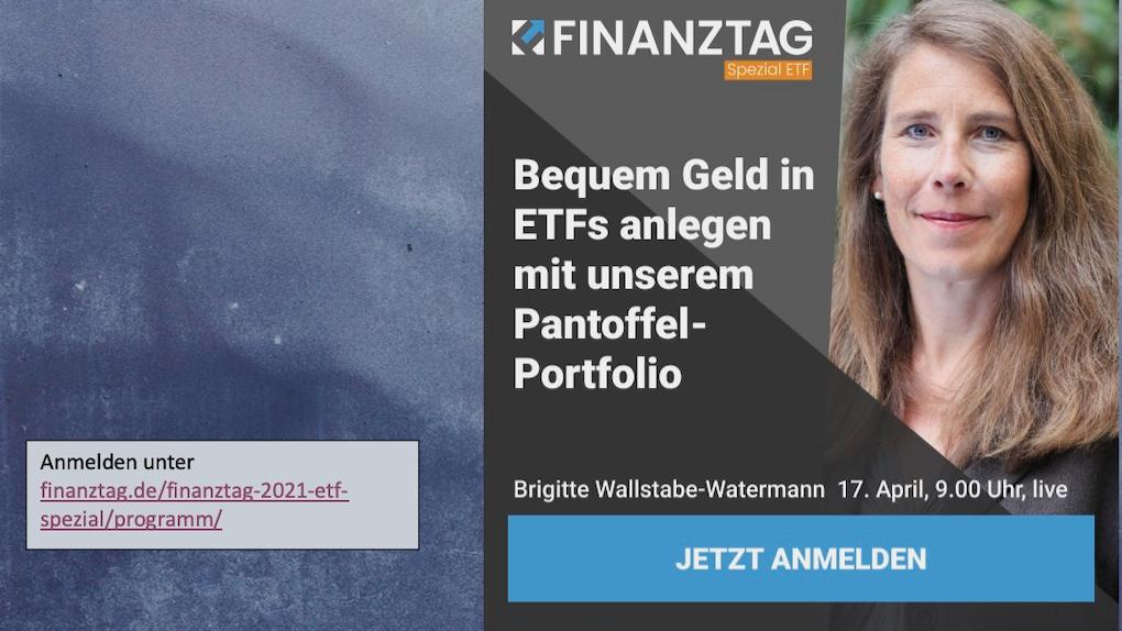 Website und Ankündigung Finanztag