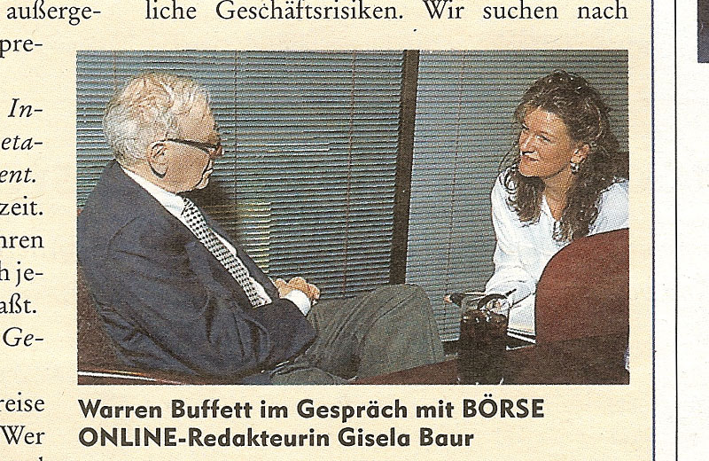 Gisela Baur interviewt Warren Buffett