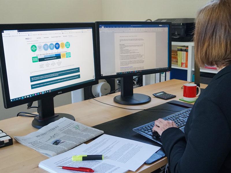 Texte für Print werden am Computer erstellt