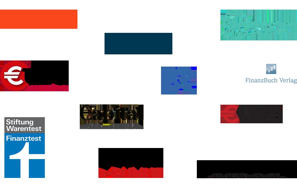 Logos von Focus, Börse Online, Handelsblatt