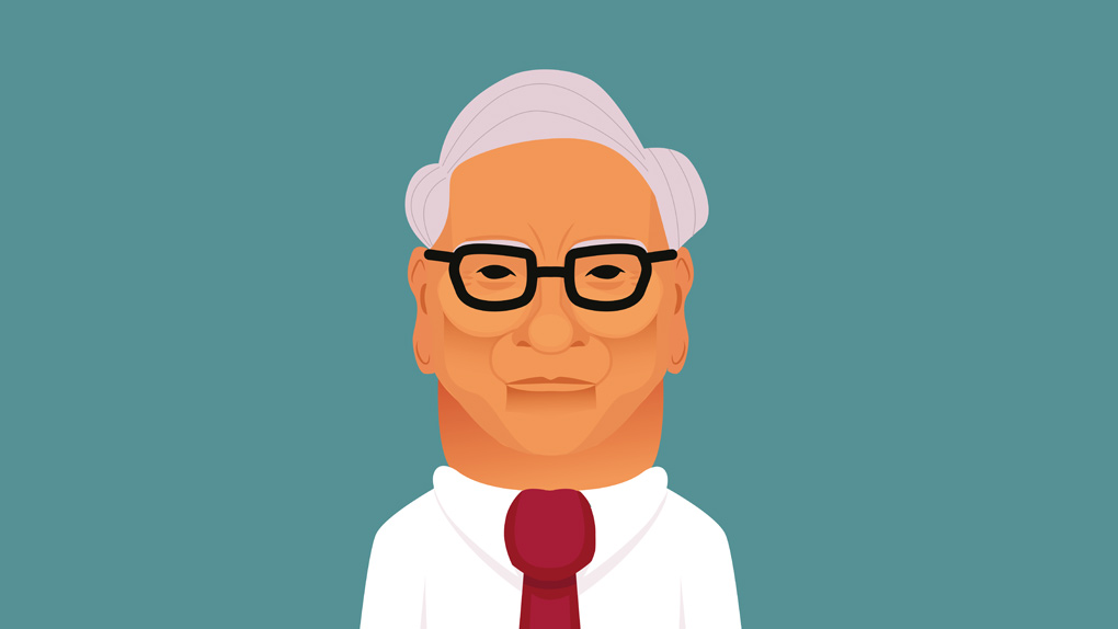 Eine Illustration von Warren Buffett